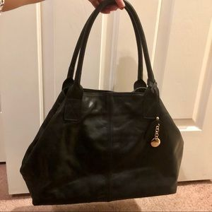 Handbags - Soft genuine italian leather shoulder bag in black